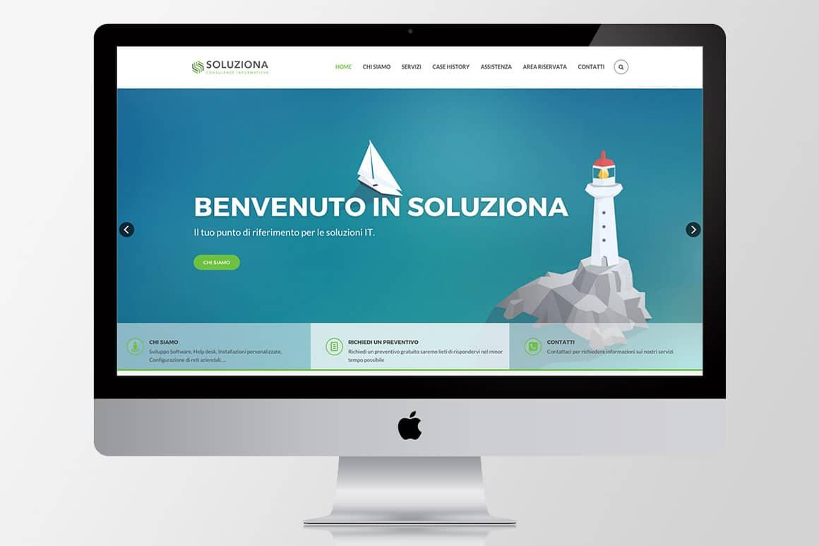 Soluziona finalmente Online con il nuovo sito internet.